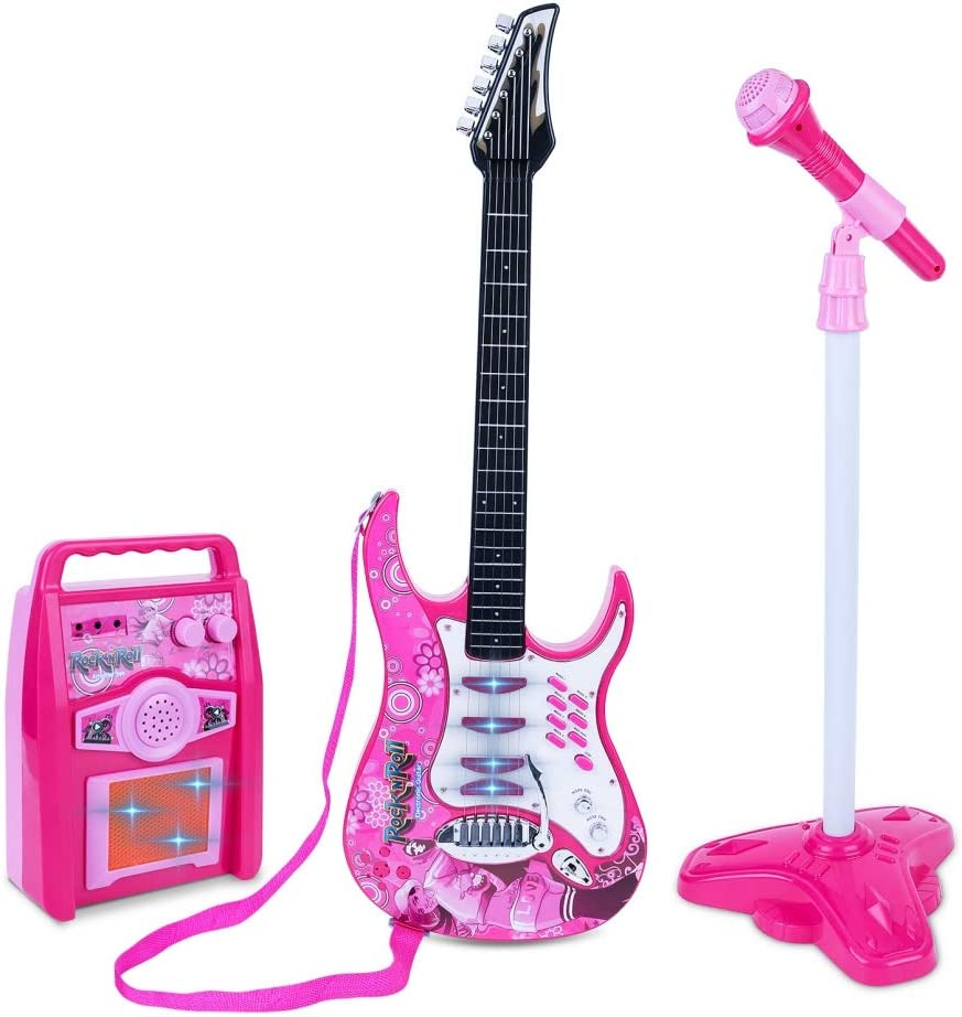 Kingkun Children's Bass Guitar Max 64% OFF Amp 25% OFF Microphone Guita Set Electric