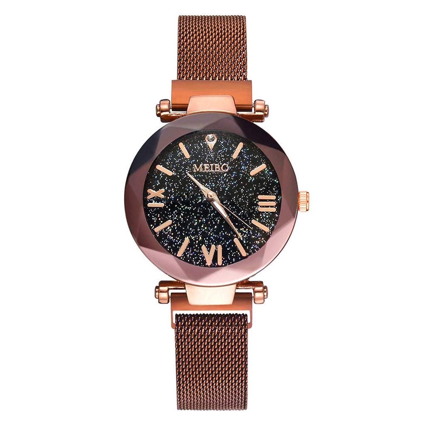2019 Spring Deals! Fashion Women Watches Quartz Stainless Steel Wristwatch Magnet Buckle Starry Sky Analog Wrist Watch Lover Gift Valentine's Day Present
