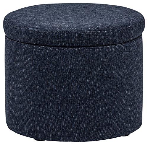 Marca Amazon -Rivet Madison - Otomana con tapa para almacenaje, 50,8 cm de ancho (azul vaquero)