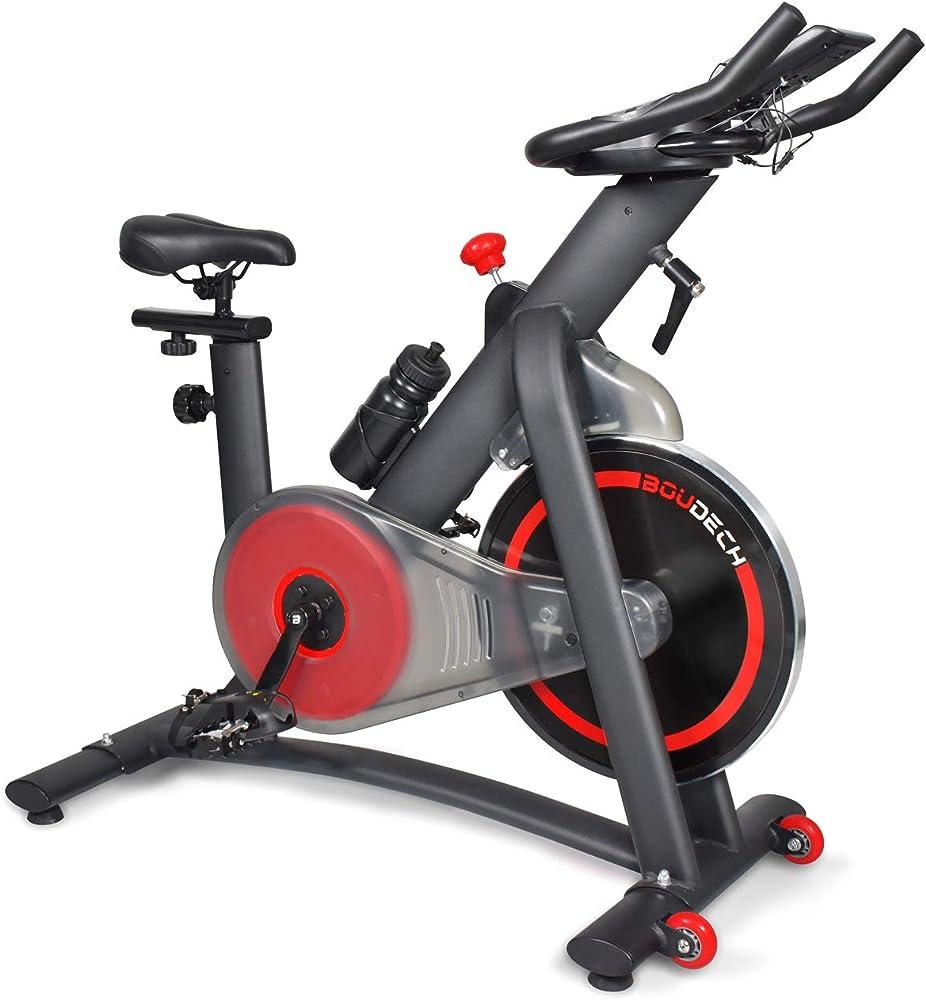 Boudech, bici da spinning, cyclette,  display lcd, software di monitoraggio e supporto tablet EDGE 1600