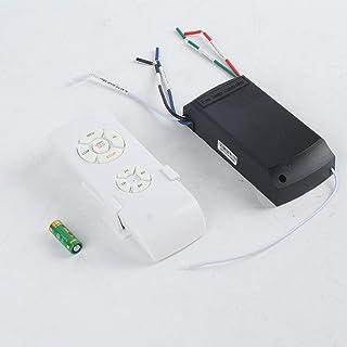 Kit de control remoto de lámpara de ventilador de techo universal 110-240V Temporizador Interruptor de control inalámbrico Receptor de transmisor de velocidad del viento ajustado