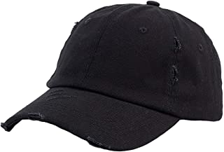 Womens Classic Washed Distressed Unstructed Cotton Baseball Cap Dad Hat