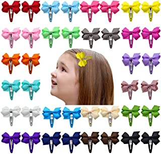 2 Inch Hair Bows Snap Clips Barrettes for Baby Girls Toddlers Kids
