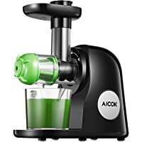 Aicok AMR521 Slow Masticating Juicer Extractor with Brush, Juice Recipes for Vegetables & Fruits
