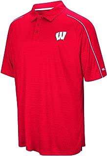 Colosseum Men's University of Wisconsin Badgers Setter Short Sleeve Polo Shirt