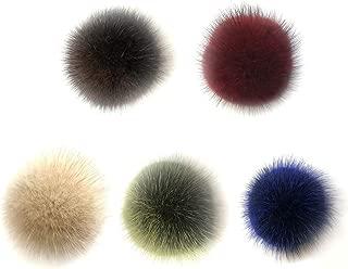 SUPVOX Bola de Pomp/ón de Pelo de Zorro Accesorios Desmontables para Tejer Sombrero de Lana de Punto Gorro de Invierno Gorro de Esqu/í 10cm 12 Piezas(Cada Color con 2