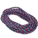 Cuerda de escalada en roca de 20 m, accesorio de alta resistencia, cuerda de nailon multiusos de alta resistencia, seguridad y cuerda duradera, para supervivencia al aire libre, senderismo(Púrpura)