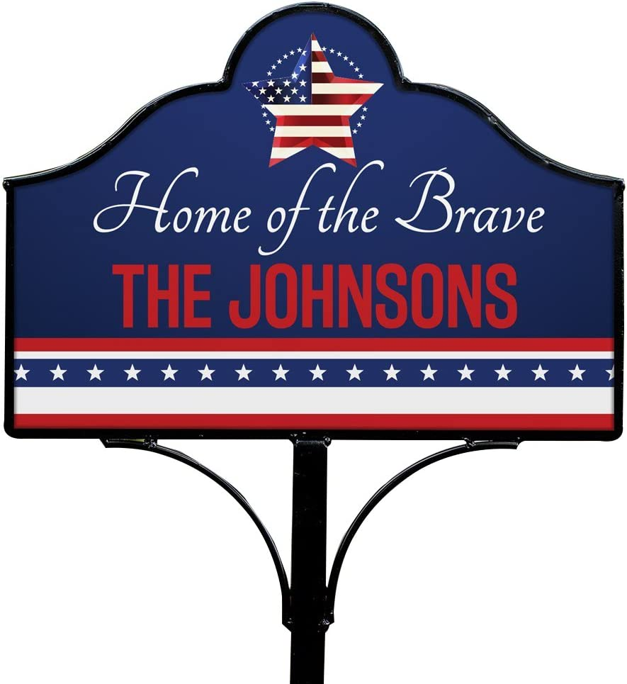 Max 67% OFF Ranking TOP19 GiftsForYouNow Stars and Stripes Sign Personalized Magnetic Yard