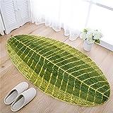JameStyle26- Alfombrilla de baño, diseño de hoja de palmera, color verde, alfombrilla para ducha, para cocina, de secado rápido, poliéster, verde, 40 x 60 cm