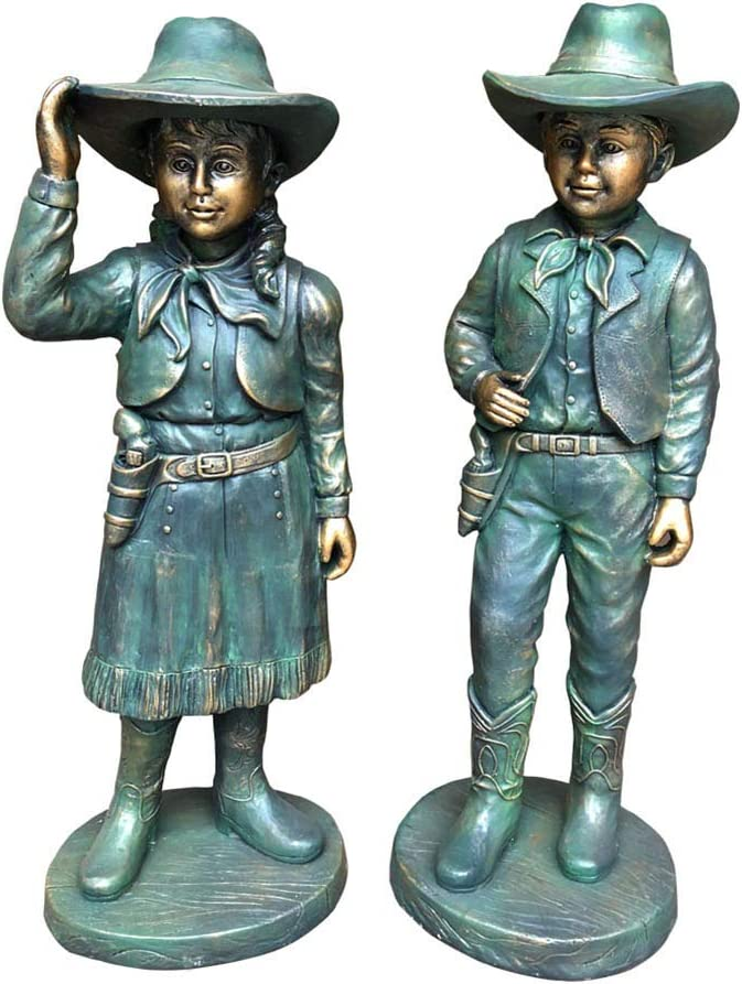 SDBRKYH Outdoor Garden Limited time trial price Sculpture Cowbo Statue Western Character Atlanta Mall