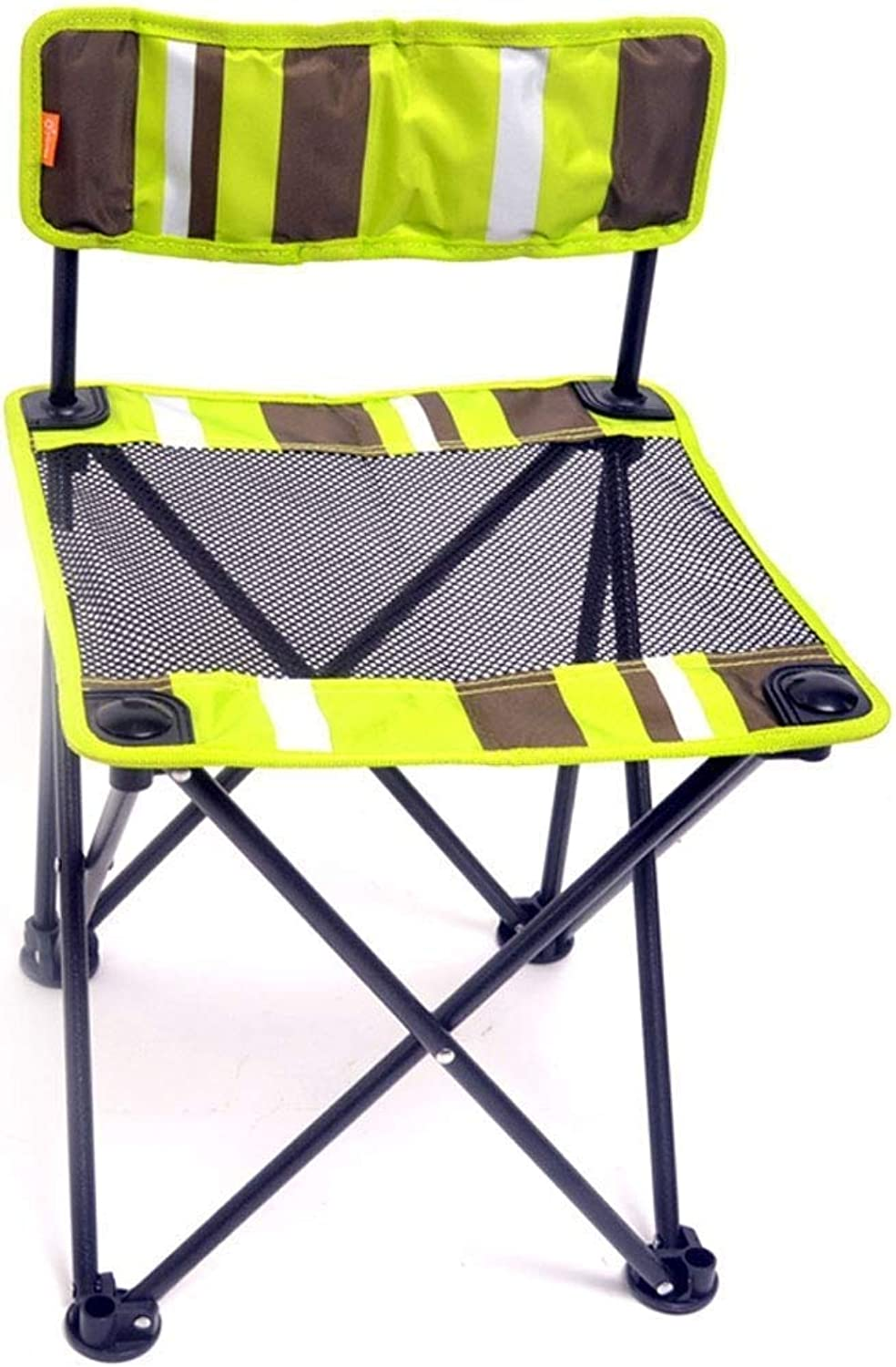 Small Mesh Folding Chair Portable Outdoor Student Painting Sketch Chair Oxford Cloth Leisure Fishing Chair JINRONG (color   Black)