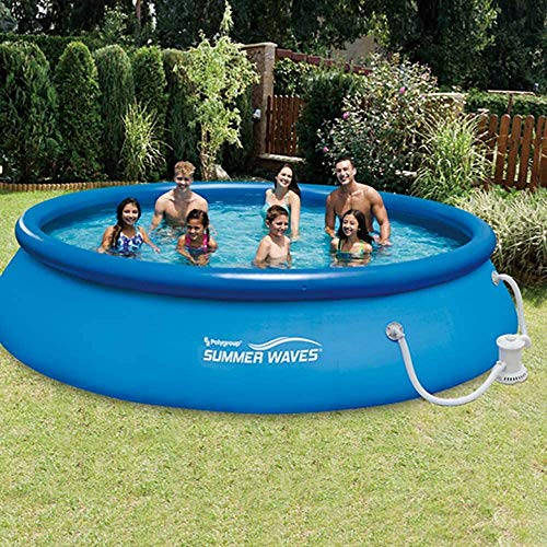 Summer Waves 13ft x 33in Quick Set Inflatable Above Ground Pool with Filter Pump