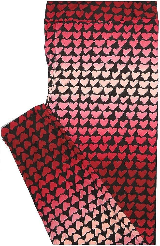 Lularoe Tall Curvy TC Valentines Ranking TOP10 Gradient Max 57% OFF Dot Polka Hearts Red P