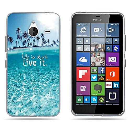 DIKAS Handyhülle für Nokia für Nokia Microsoft Lumia 640XL, TPU Softcase Silikon Back Cover Tasche Schutzhülle Anti-Scratch Bumper Fall Euit für Nokia für Nokia Microsoft Lumia 640XL- Pic: 05
