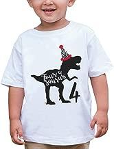 7 ate 9 Apparel Four Forth Birthday Dinosaur T-Shirt