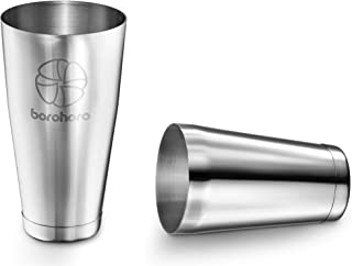 Boston Cocktail Shaker Stainless Steel Weighted Cups 2 Piece Bar Tool Set - 27 & 18 oz - Perfect Gift for Mixing a Drink Like Martini, Margarita, Mojito as a Professional Bartender