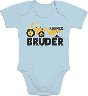 Shirtgeil Kleiner Bruder Bagger Traktor Baby Body Kurzarm-Body