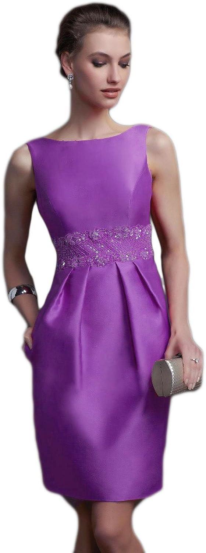 Beilite Women's Formal Evening Dress Backless Short Prom Party Dresses