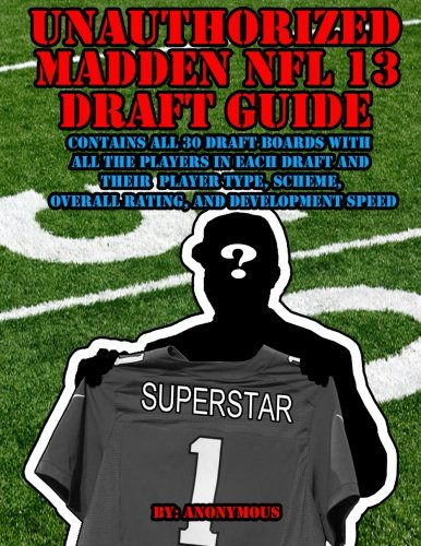 Unauthorized Madden NFL 13 Draft Guide