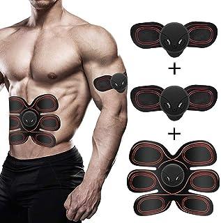 Estimulador muscular, estimulador muscular, abdominal cinturón de tonificación Abs Trainer inalámbrico portátil abdominal cinturón de tonificación de tóner equipo de la aptitud del abdomen / Brazo de