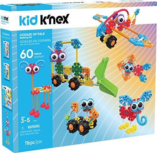 K\'NEX 34512 - Bau- und Konstruktionsspielzeug Set Oodles Of Pals, Baukasten Viele Freunde mit 116 Teilen, Konstruktionsset mit Ideen für 60 Modelle, Kid K-Nex Bauset für Kinder von 3 bis 5 Jahre