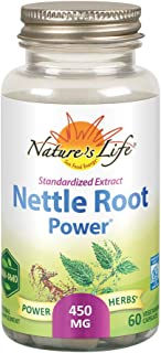 Nature's Life Nettle Root Power 450mg Herbal Supplement | Prostate & Urinary Tract Health Formula for Men | Non-GMO & Lab ...