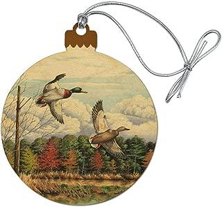 GRAPHICS & MORE Mallard Ducks Flying Hunting Wood Christmas Tree Holiday Ornament