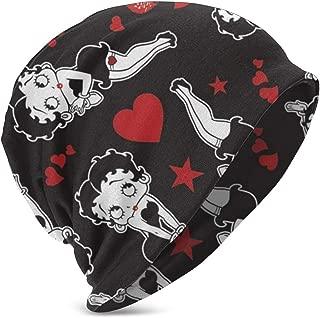 Black Betty Boop Kid's Knit Hats Stretchy Soft Beanie Hat Skull Cap for Boys Girls