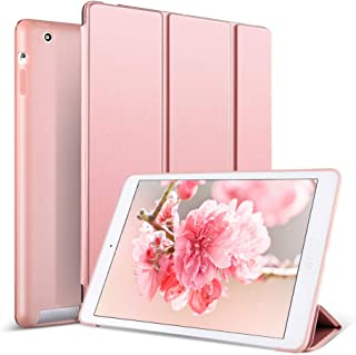 Kenke iPad 2 Case, iPad 3 Case, iPad 4 Case, Silicone Soft Ultra Slim Lightweight Smart Case Auto Sleep/Wake Cover for iPad 2th/3th/4th Generation-Rose Gold