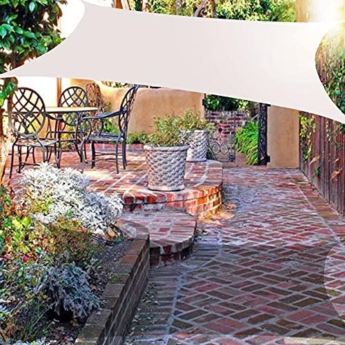 Wsaman 3x4m Toldo Vela de Sombra Rectangular - HDPE Protección Rayos UV,Resistente Transpirable, Prueba Viento y Polvo, con Kits de Montaje Toldo Impermeabl para Exterior, Jardin, Patio,White