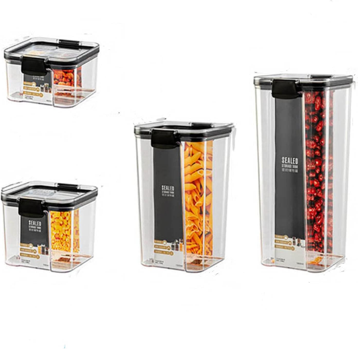 Stackable Acryl Food A surprise price is realized famous Storage Container Plastic set Noodl Kitchen