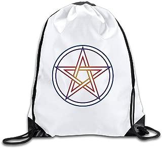 WICCA Pentacle Emblem Sports Drawstring Backpack For Men & Women