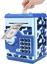 Totola Piggy Bank Electronic Mini ATM for Kids Baby Toy, Safe Coin Banks Money Saving Box Password Code Lock for Children,Boys Girls Best Gift (Camouflage)