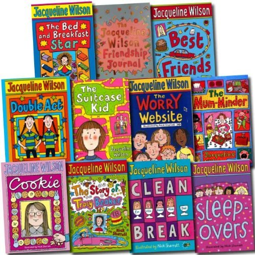 Jacqueline Wilson Collection Nick Sharrat 11 Books Set (The Story of Tracy Beaker, Clean Break, Double Act, Best Friends, Sleepovers, The Suitcase Kid, The Mum-Minder, The Worry Website, The Bed and Breakfast Star, Cookie, etc)