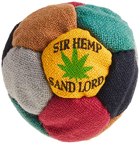 World Footbag Sir Hemp Hacky Sack Footbag, Black/Green/Grey/Red/Tan/Yellow