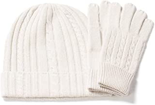 Fishers Finery Women's 100% Pure Cashmere Hat & Glove Set with Gift Box