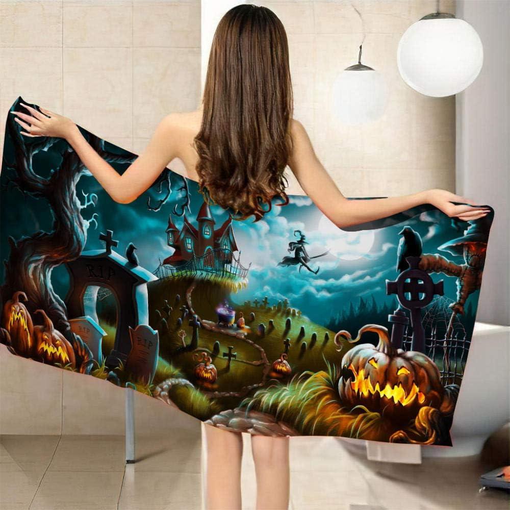 ZCLCHQ Beach Towel Popular Quick Drying Cartoon Microfibre Colorfu Bargain Devil