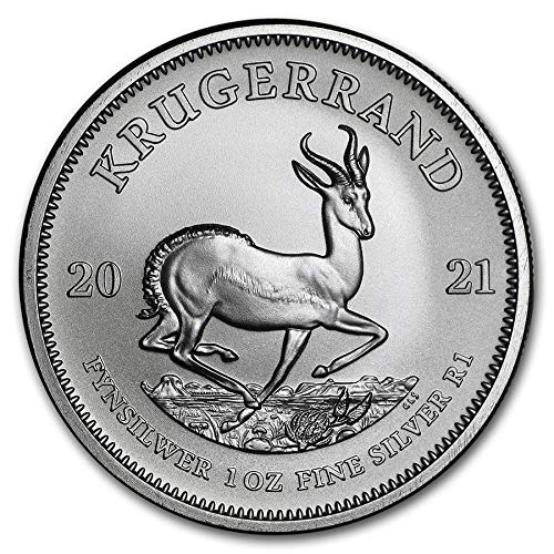 2021 ZA 1 oz .999 Fine Silver Krugerrand Rand Uncirculated Mint
