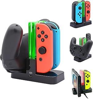 BYSON Controller Carregador Compatível com o Interruptor Nintendo, Carregando Dock Station Compatível com Comutador Joy-Co...