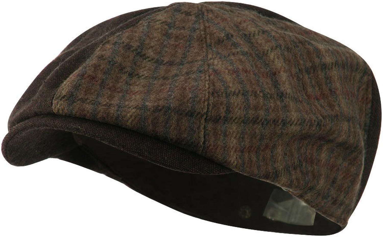 0fdde7a9 Jeanne Simmons Men's Split Split Split Design Ivy Cap - Black Brown 3463ac