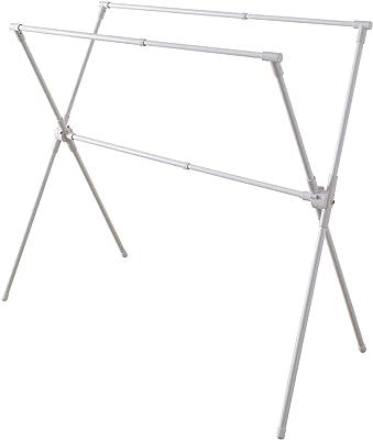 平安伸銅工業 室内物干し X型 伸縮タイプ ホワイト 約3~4人用(布団対応) 幅95~145cm 耐荷重10kg SMW-2