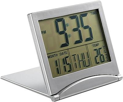 lyff Slim plegable reloj, Lazy reloj despertador, temporizador, termómetro y # xFF0 C