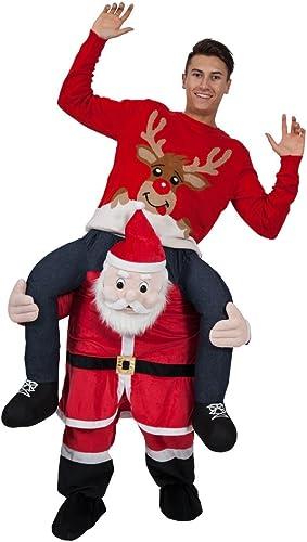 hasta un 50% de descuento Carry Me Santa - Adult Costume Adult - One Talla Talla Talla  saludable