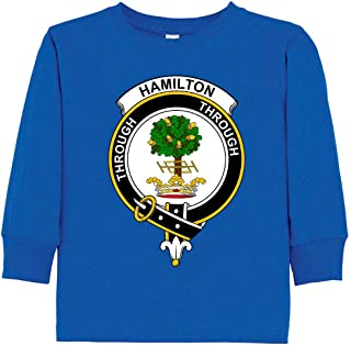 Toddler's Scottish Clan Crest Badge Hamilton Long Sleeve T-Shirt