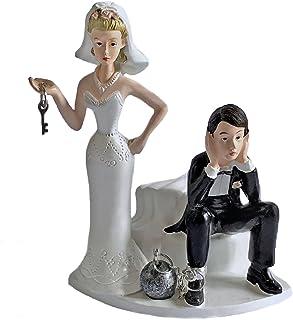 Ball and Chain Humorous Wedding Cake Topper