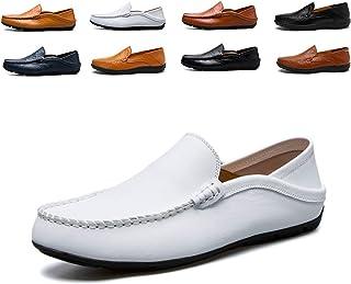 d46f1f3f AARDIMI Mocasines Hombres Zapatos de Vestir Casuales Holgazanes Slip On  Verano Plano Cuero Zapatos de Conducción