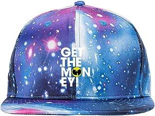 Wu Tang Clan Get The Money Purple Galaxy Snapback Hat Unisex Trucker Hat Hip Hop Plaid Flat Adjustable Baseball Hat