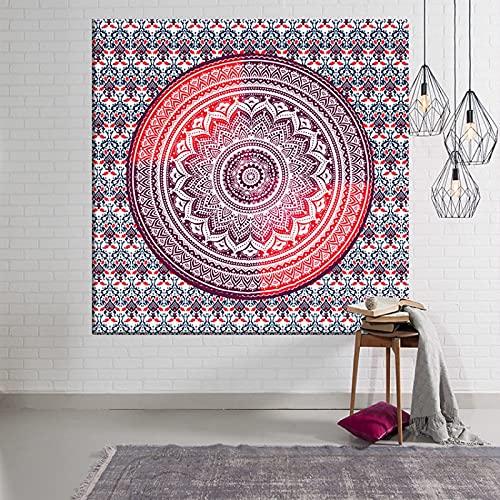 KHKJ Bohemia Mandala Mushroom Tapiz Cabecero Arte de la Pared Colcha Dormitorio Tapiz A3 200x150cm