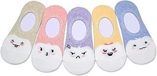 Never Slip Down Socks Women No Show Non Slip Flat Low Cut 5-11 women shoe size Basic & Cute Character(Made in Korea)