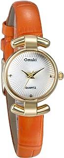 JewelryWe Women Leather Wrist Watch Simple Round Quartz Bracelet Watch